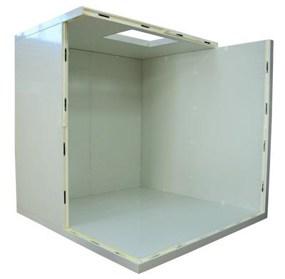 Panneau isolant 80 mm pour cellules r frig rantes chambres froides fun raire et de conservation - Chambre froide isolation ...